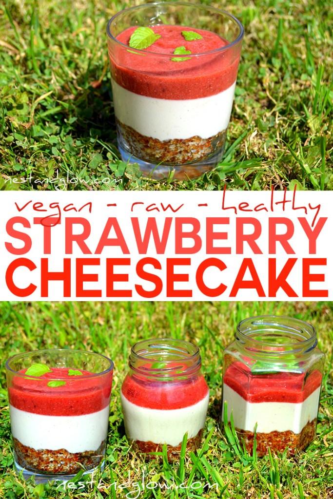 raw vegan strawberry cheesecake recipe