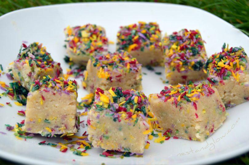 Cashew Vanilla Fudge with Healthy Sprinkles