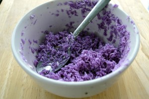 red cabbage sprinkles