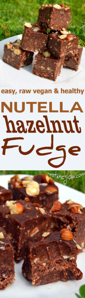 raw vegan chocolate nutella fudge