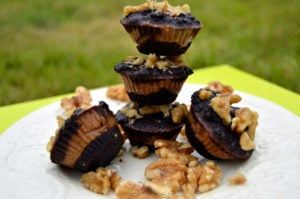 Raw Chocolate Almond Nut Butter Cups Vegan