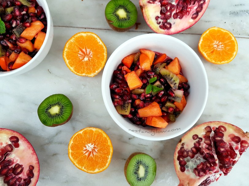 Winter Fruit Salad easy raw recipe