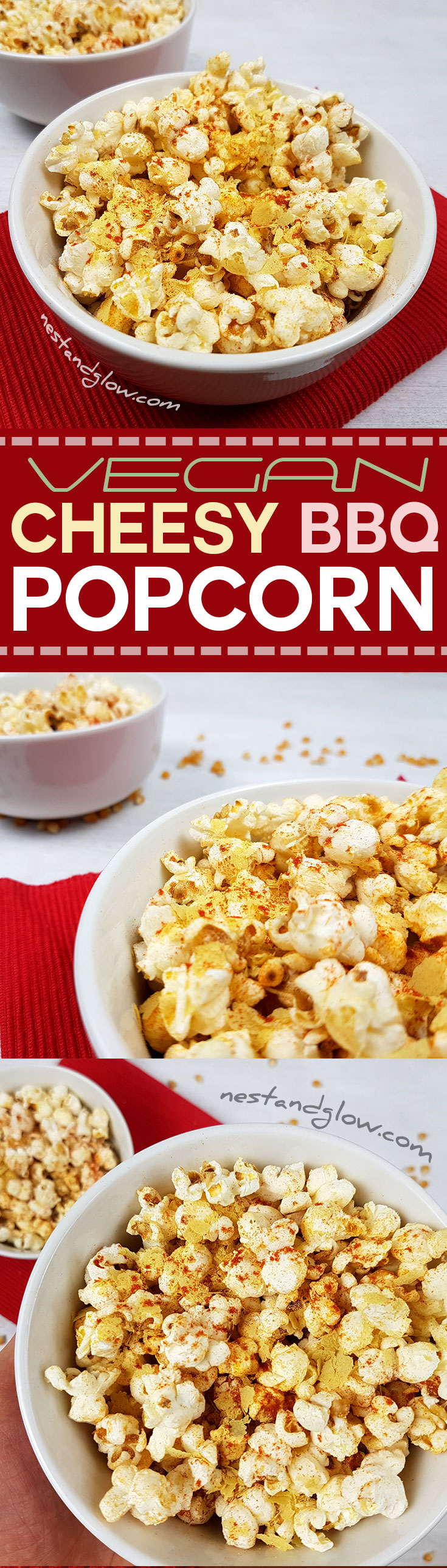 Cheesy Vegan BBQ Popcorn Healthy Recipe (Dairy and Gluten ...