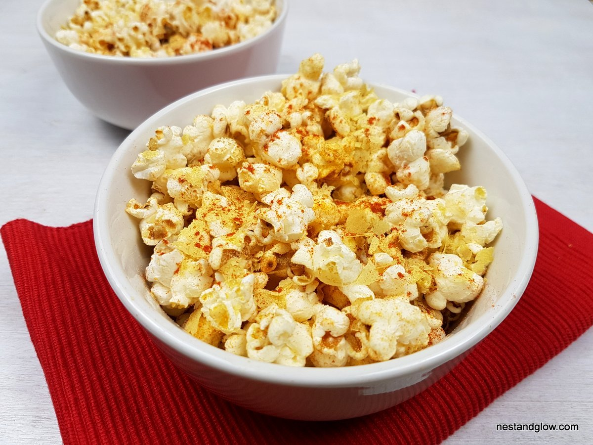 Cheesy Vegan BBQ Popcorn