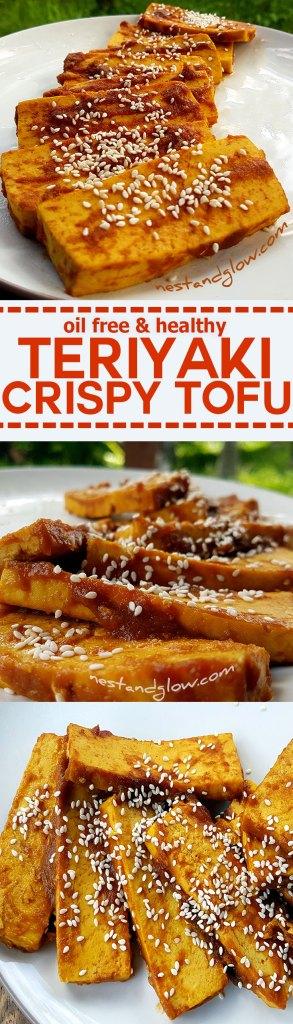 Crispy Tofu in Teriyaki Recipe - oil free and homemade sauce