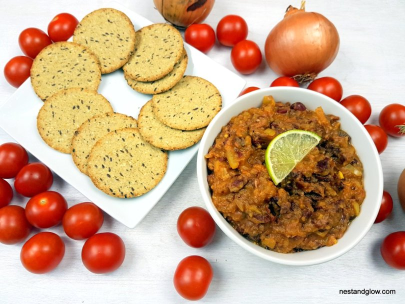 Spicy tomato kidney bean curry dip