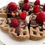 Chia Buckwheat Waffles with Berries and Chocolate