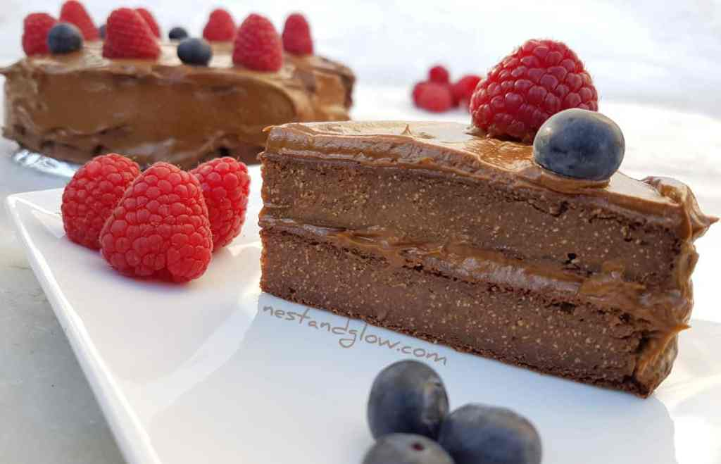 Quinoa Avocado Chocolate Fudge Cake Recipe