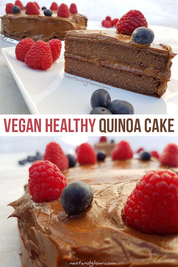 Vegan Quinoa Flour Chocolate Cake