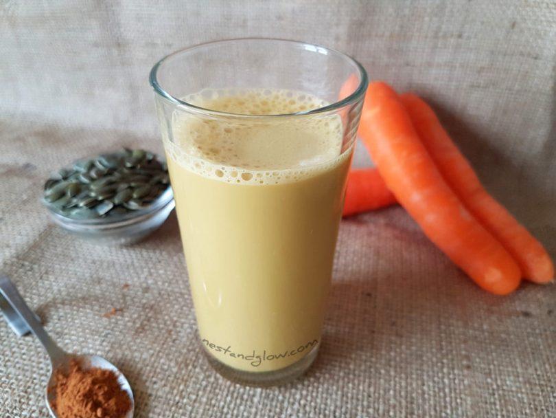 pumpkin seed carrot milk