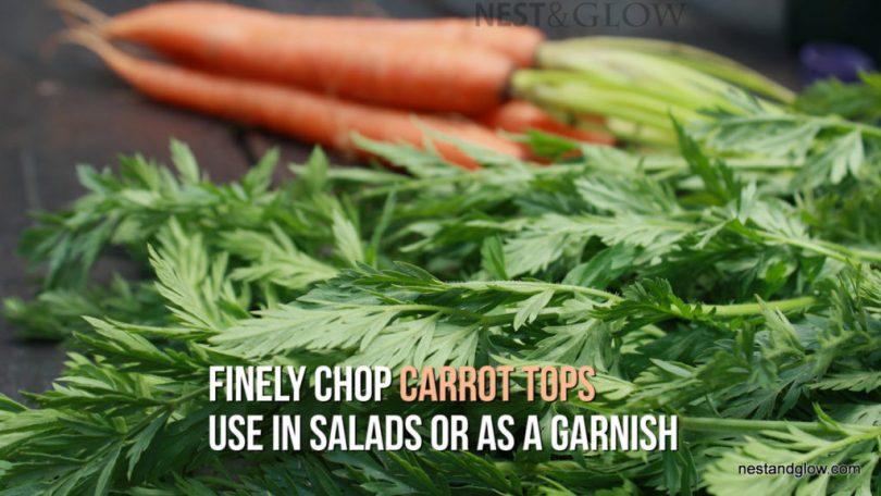 carrot tops garnish