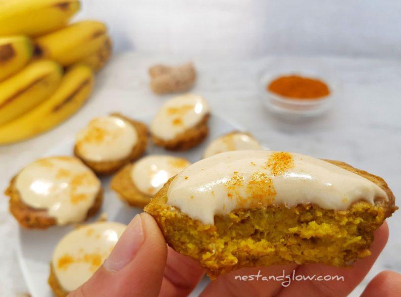 Half eaten Ginger Turmeric Vanilla Cookies
