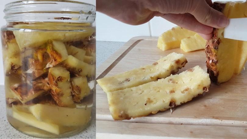 making pineapple vinegar