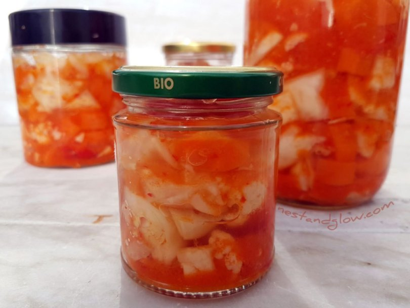 Kimchi that is vegan raw and sugarfree