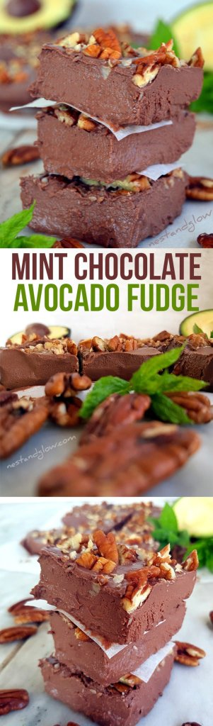 Avocado Chocolate Mint Fudge Recipe