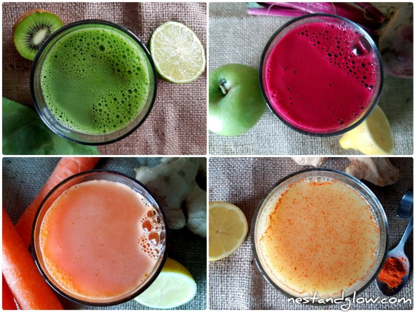 fruit vegetable shot recipes without a juicer