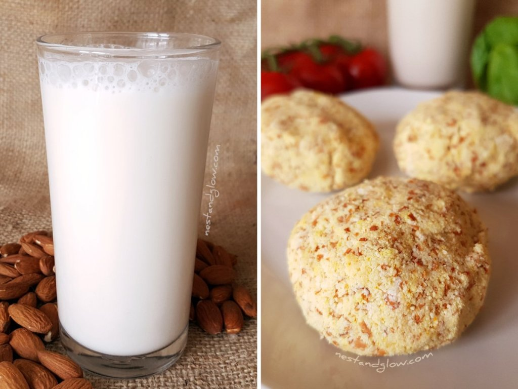 Almond Milk and Almond Pulp Cheese Recipe