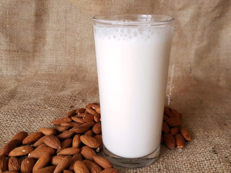 Almond milk easy raw recipe