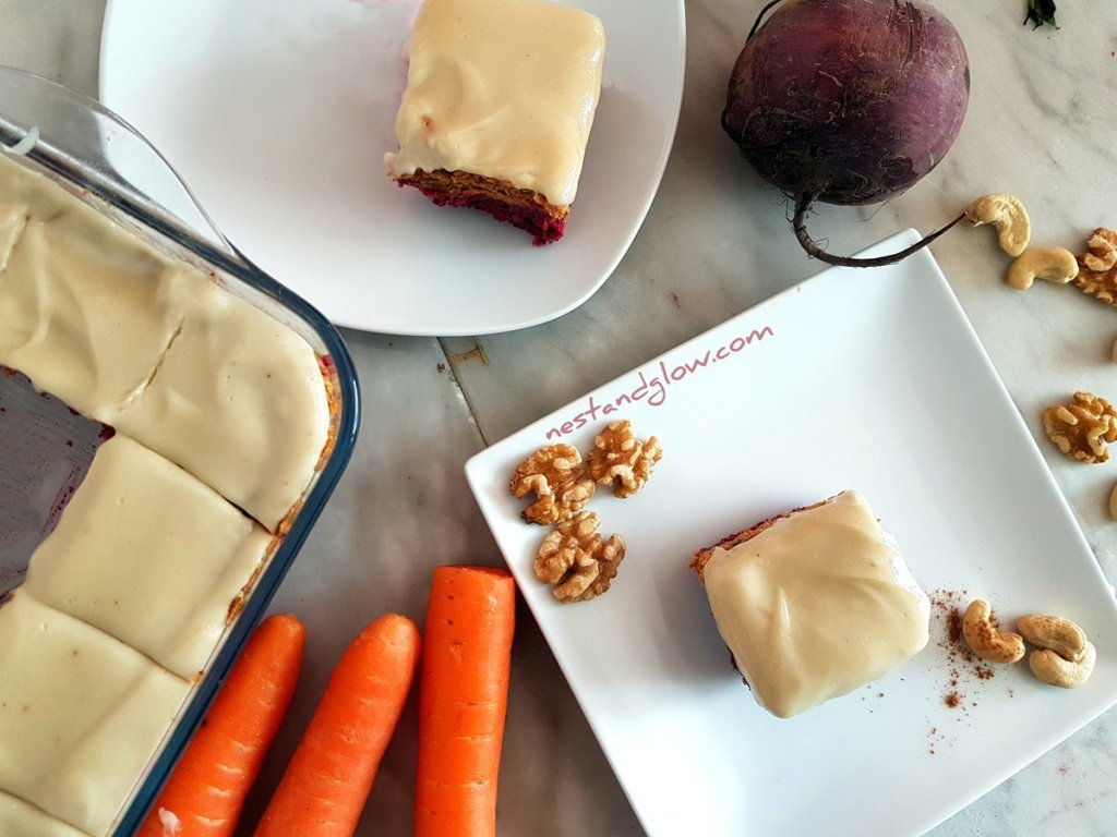 Raw Carrot Beetroot Cake Healthy Recipe vegan , paleo and whole 30