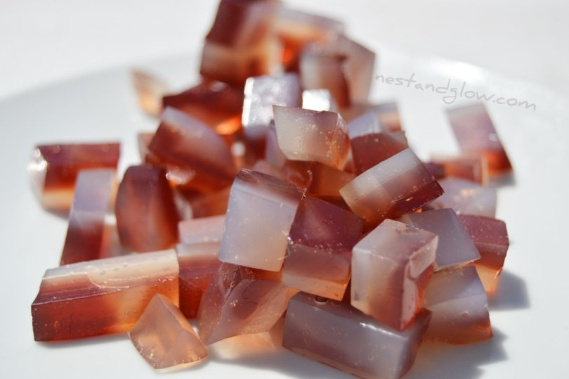 Gemstone Fruit Juice and Coconut Water Jelly Sweets