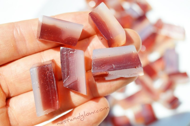 Gemstone Fruit Jelly Sweets With Grape Juice