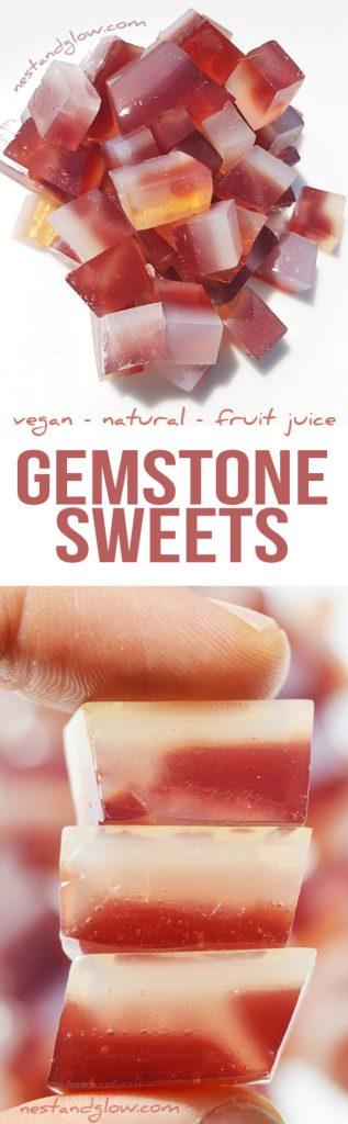 Gemstone Fruit Jelly Sweets Recipe - Vegan & Natural