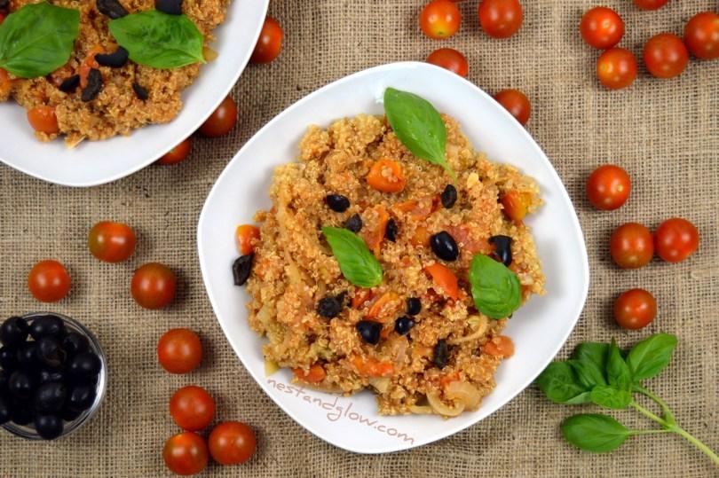 Easy One-pot Tomato BasilQuinoa