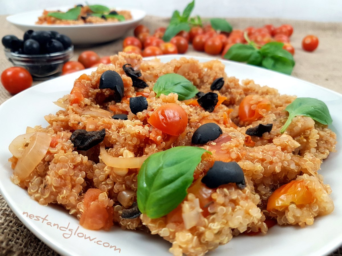 One-pot Tomato Basil Quinoa
