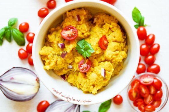 Chickpea Scrambled Vegan Eggs Recipe