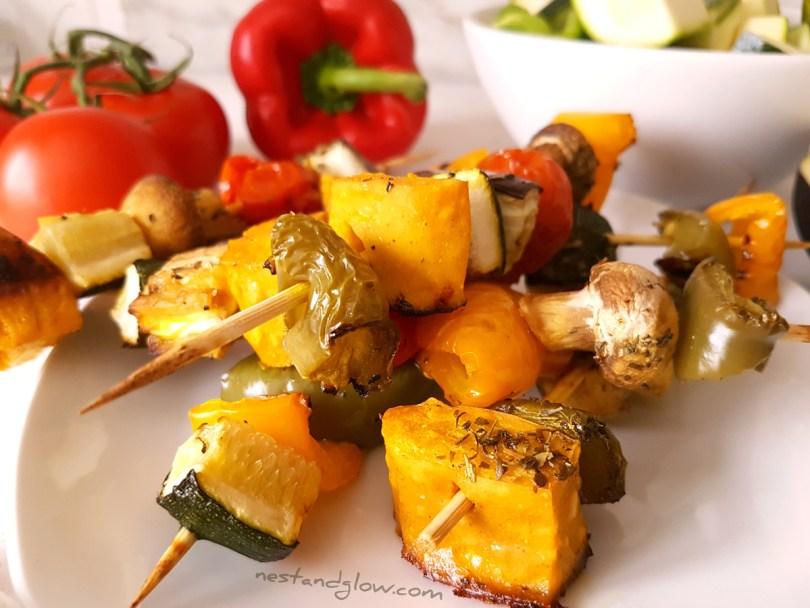 Crispy Vegan Chickpea Tofu Kebabs