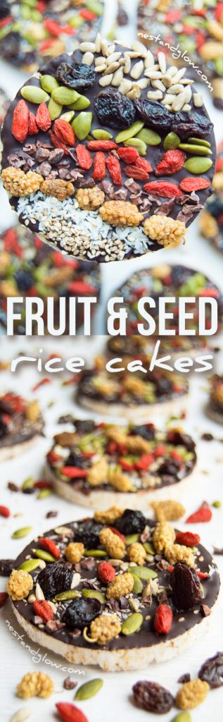 Fruit and Seed Chocolate Coated Rice Cakes Recipe