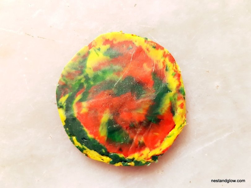 marble recycled button