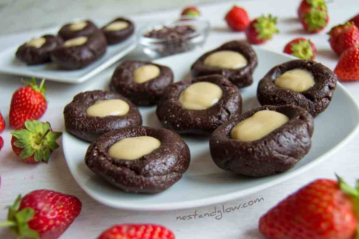 Raw Chocolate Cashew Thumbprints Recipe