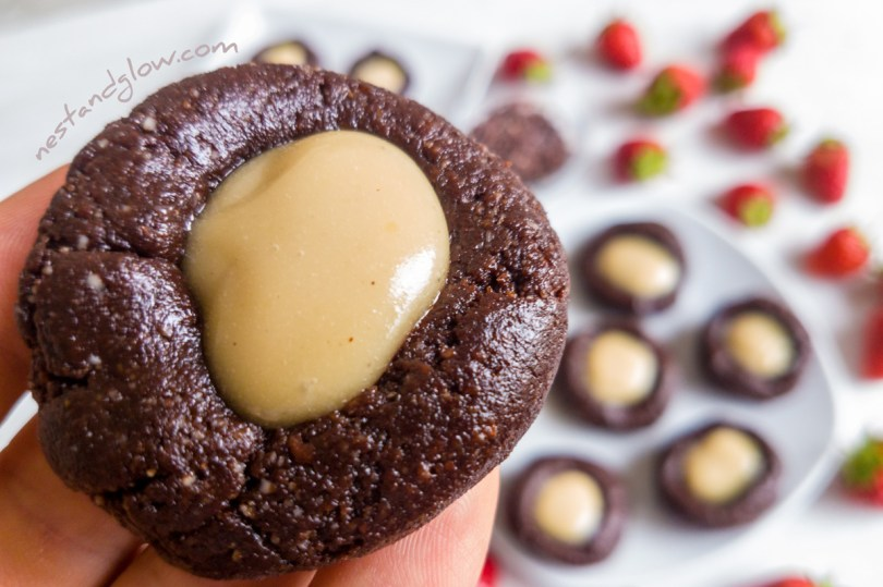 Raw Chocolate Thumbprint Cookie