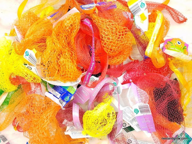 Plastic nets used in fresh fruit and vegetables