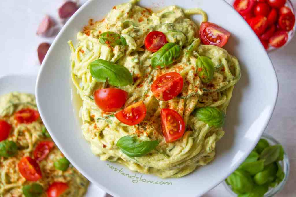 Sunflower Cheese Raw Courgetti Recipe