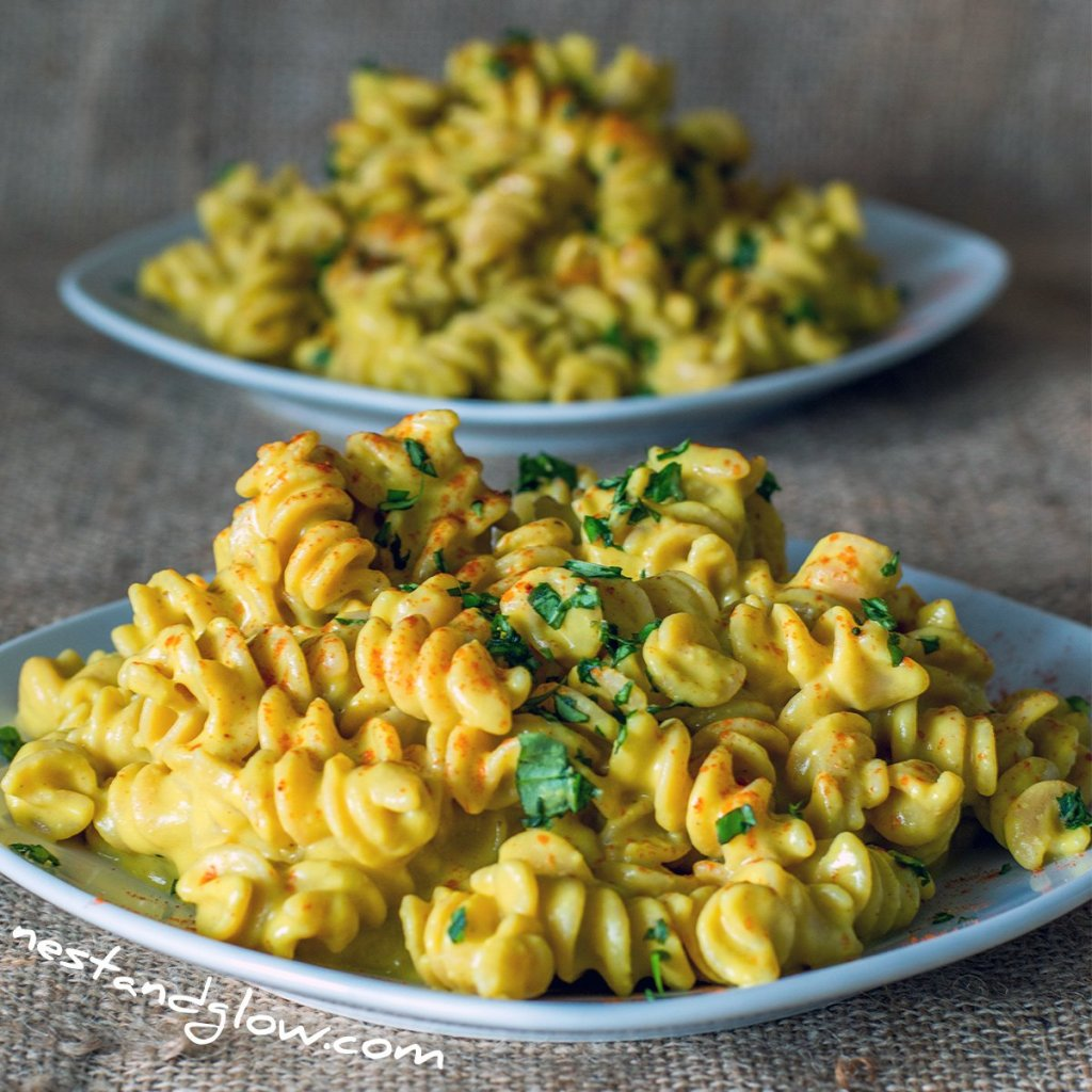 Cheesy Protein Pasta Dairy-free