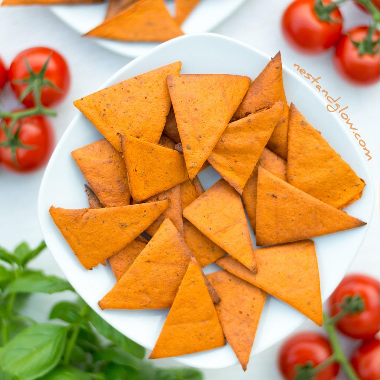 Tomato and Basil Lentil Chips Recipe
