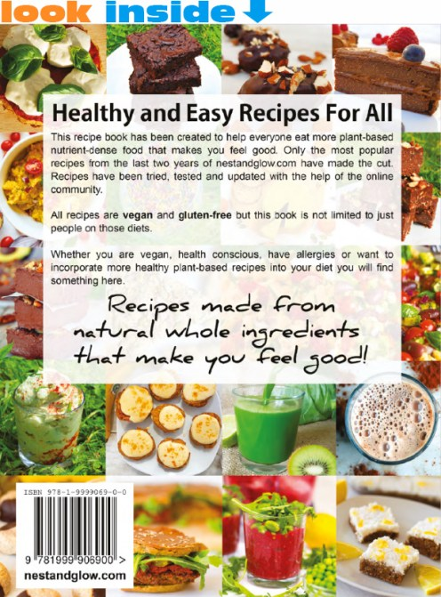 healthy easy recipe book look inside backcover