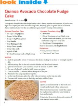 healthy easy recipe book look inside cake text