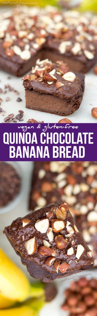 Quinoa Chocolate Banana Bread Recipe - Vegan, Gluten-free, Sugar-free