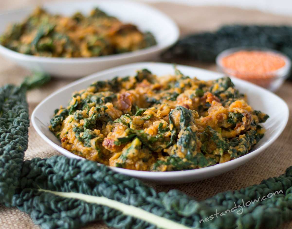 Kale and Sweet Potato Dahl