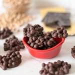 2-Ingredient Protein Candy – Chickpea and Chocolate Clusters