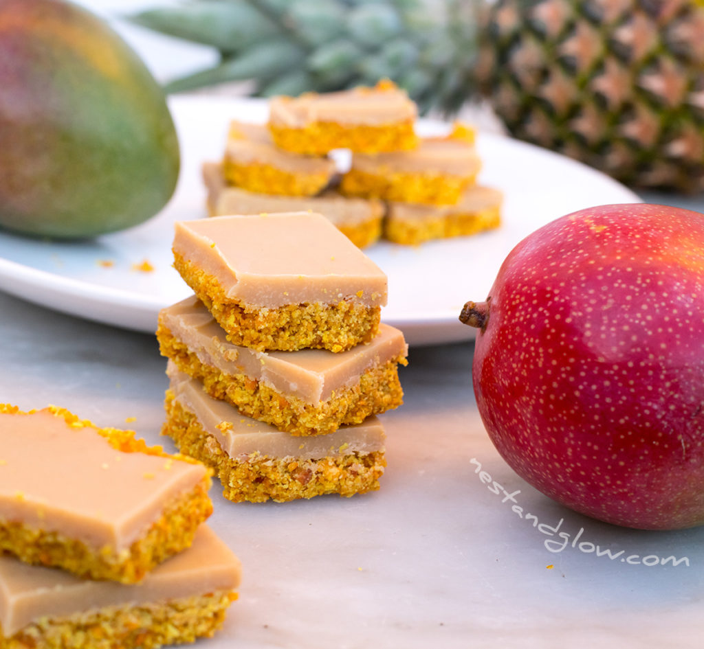 Easy healthy tropical smoothie fudge
