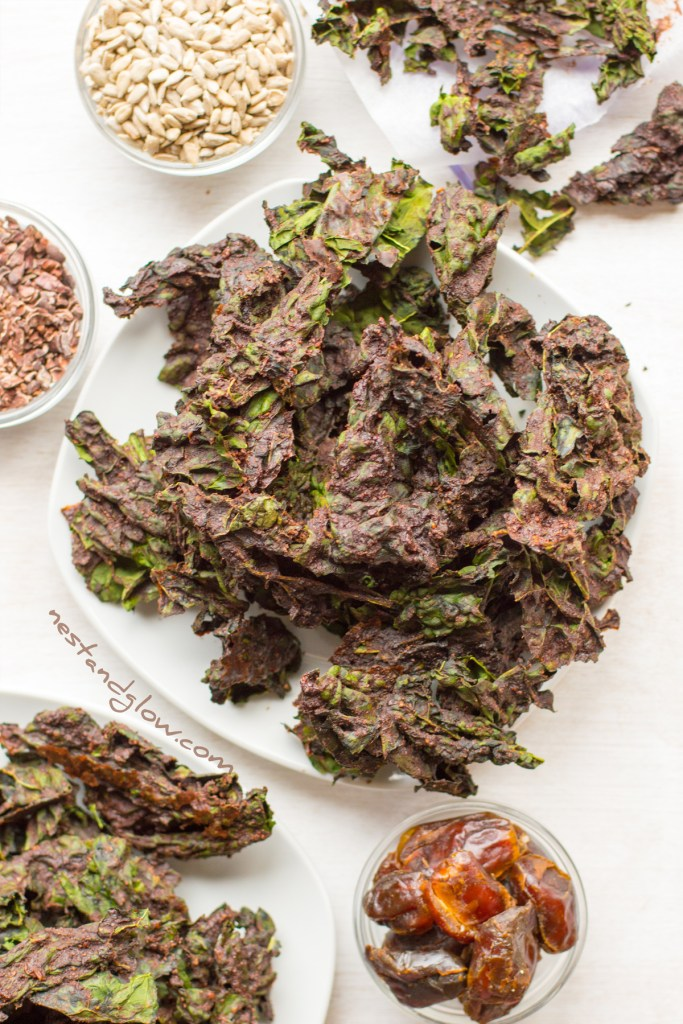 dates and chocoalte kale chips