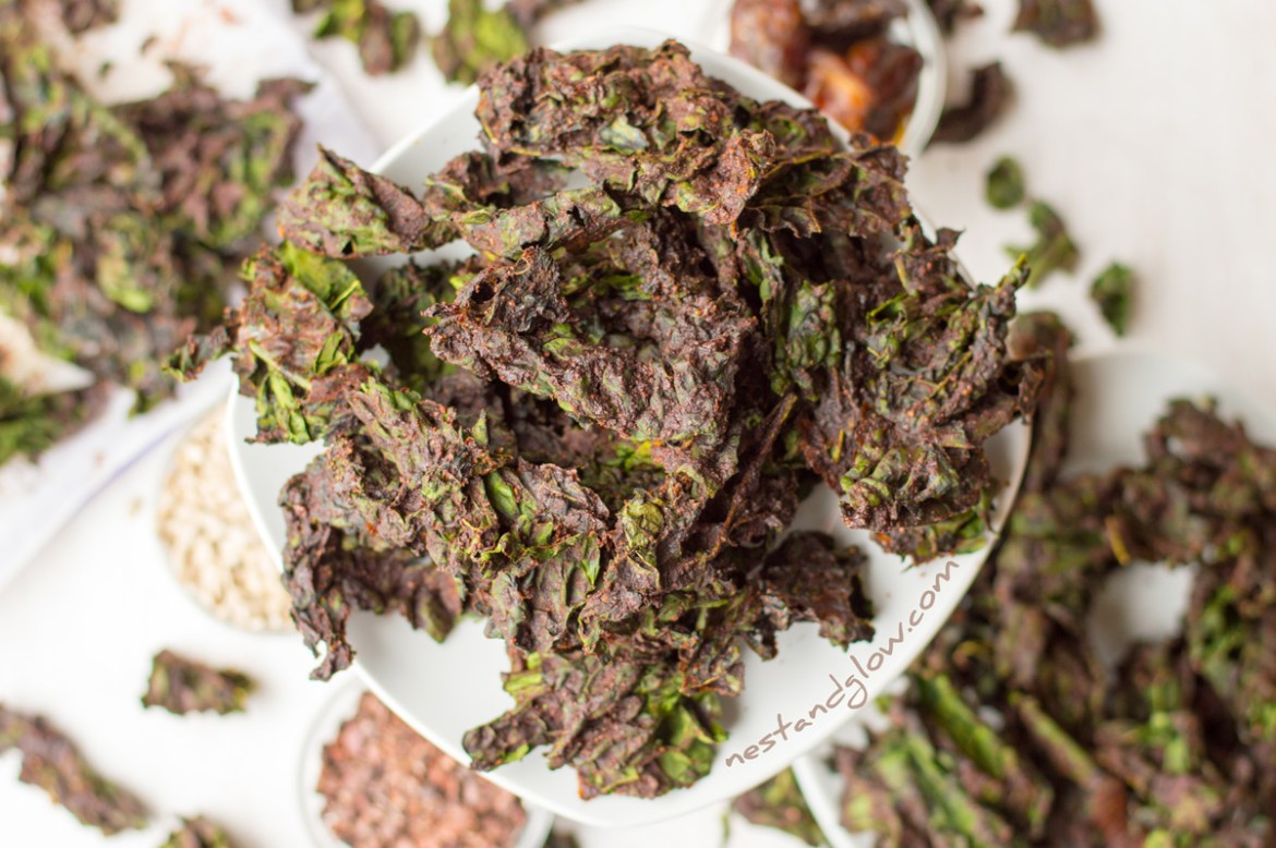Chocolate Sunflower Seed Kale Chips