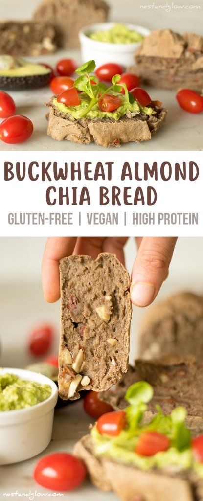 Buckwheat Almond Chia Bread Recipe - Gluten-free, Vegan and High Protein