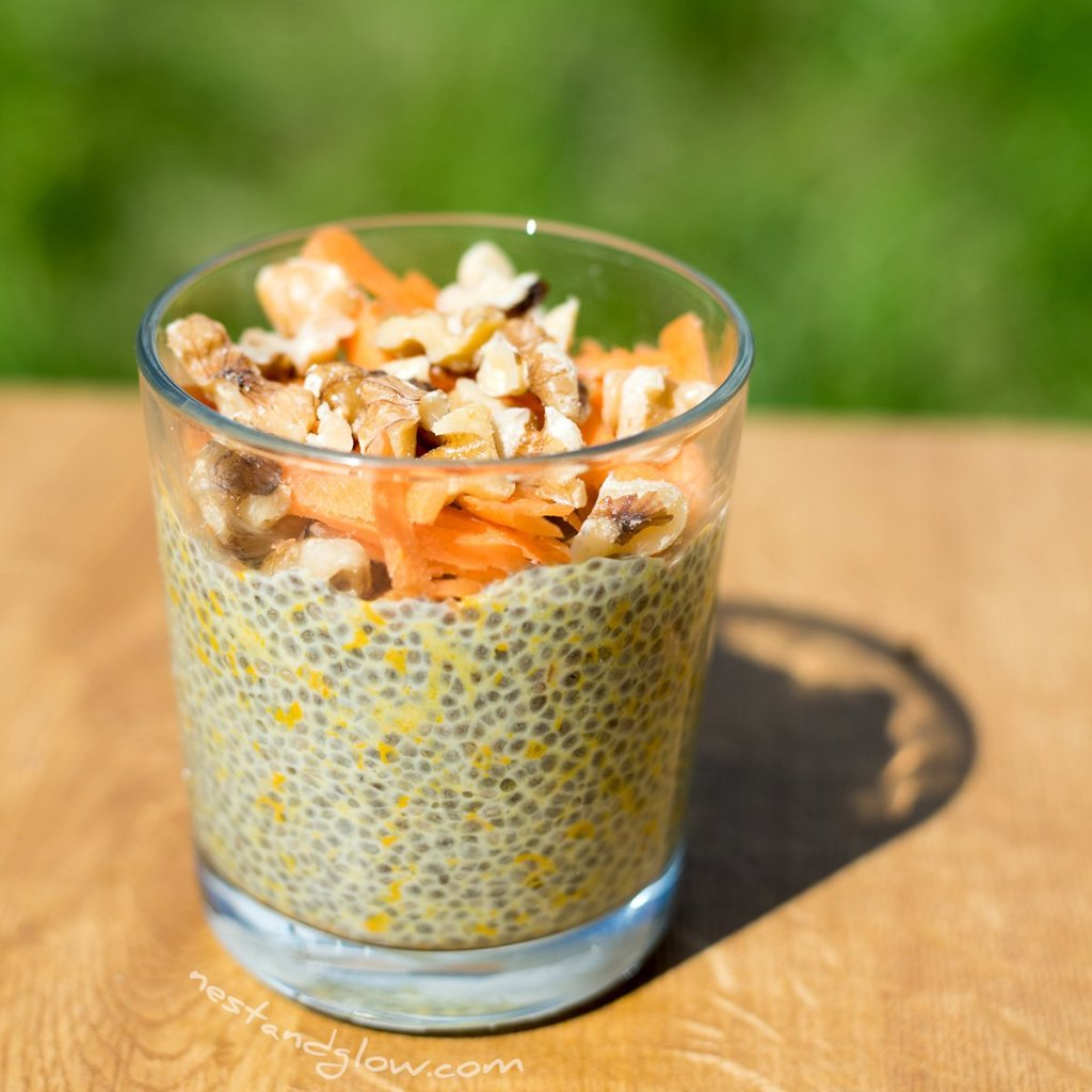 carrot cake overnight chia pudding