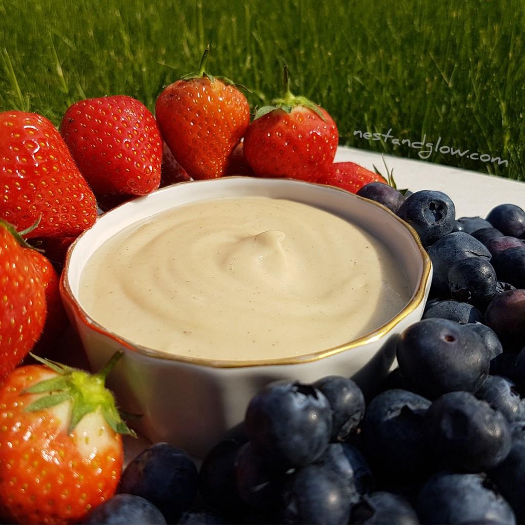healthy vanilla fruit dip