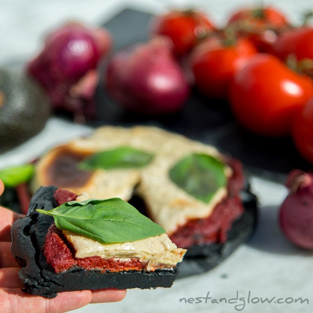 charcoal quinoa vegan gluten free pizza